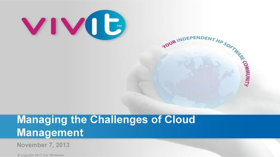 Challenges of Cloud