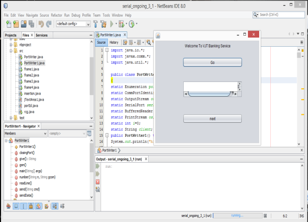 jar, connecting RFID using RXTXcomm.jar and ZigBee. 5.2 NetBeans IDE: NetBeans IDE is the official Integrated Development Environment for java8.
