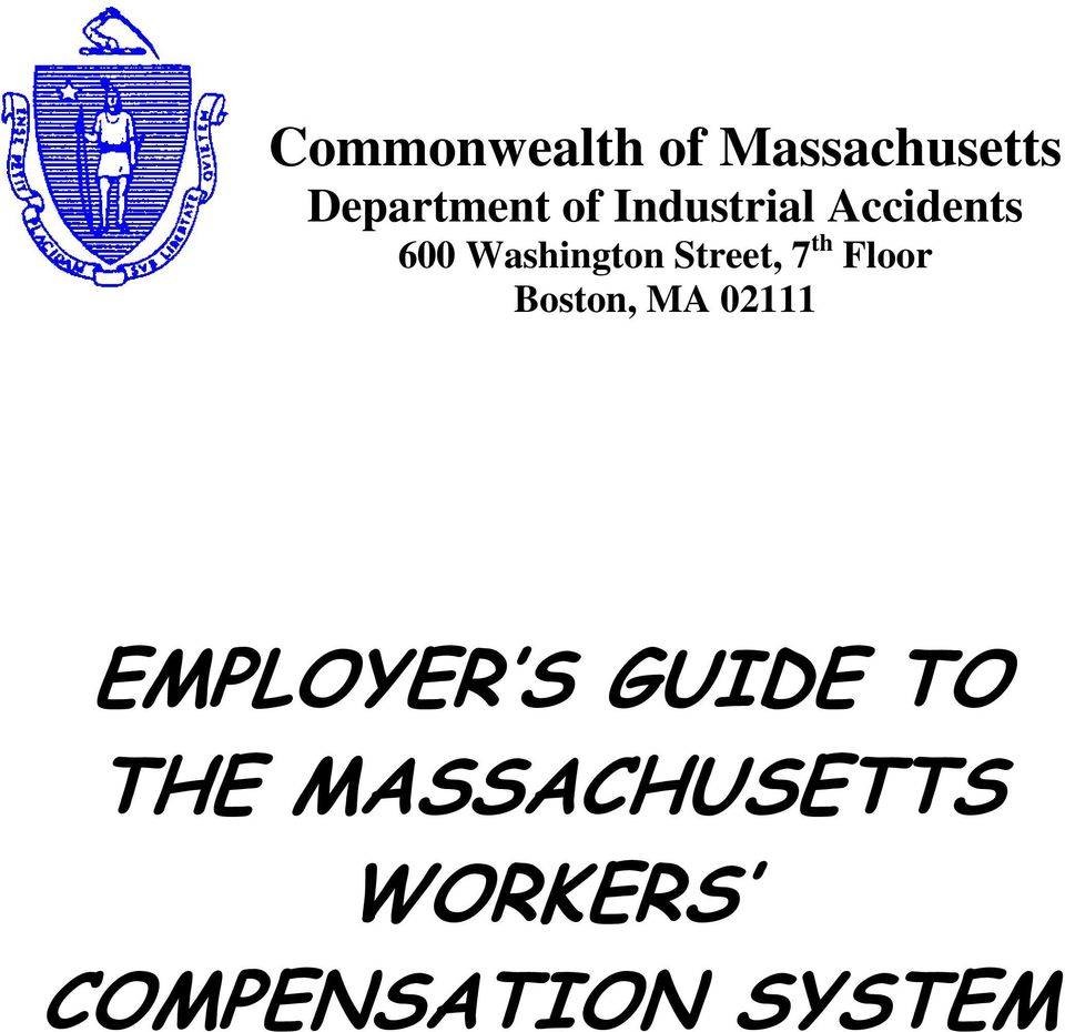 th Floor Boston, MA 02111 EMPLOYER S GUIDE TO