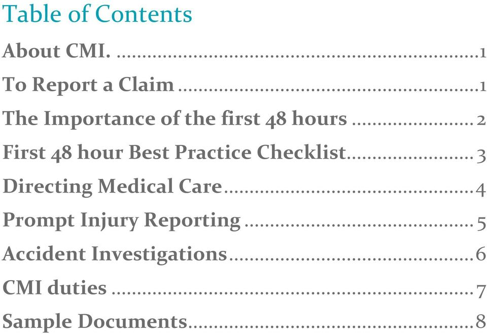 .. 2 First 48 hour Best Practice Checklist.