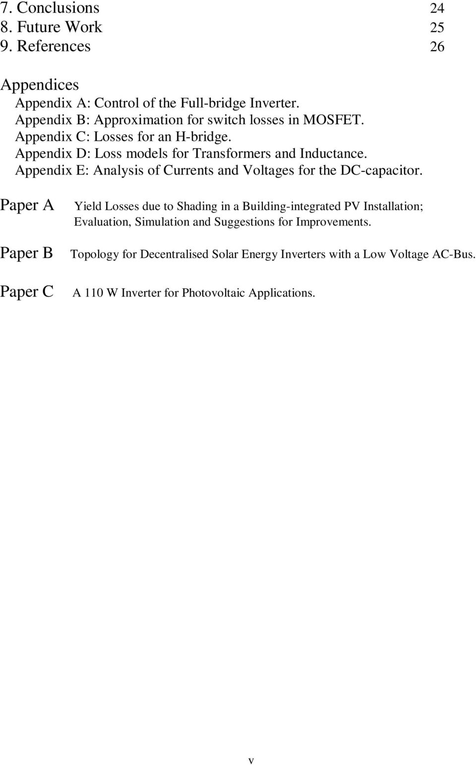 Appendix E: Analysis of Currents and Voltages for the DC-capacitor.