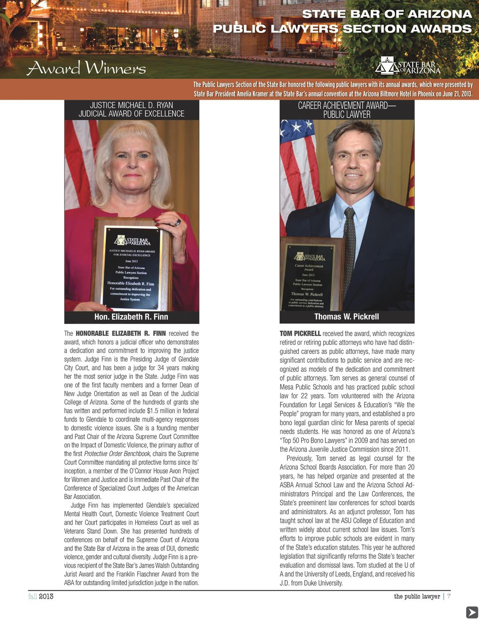 Public Meltzer Lawyers Section of the State Bar honored the William following public D.