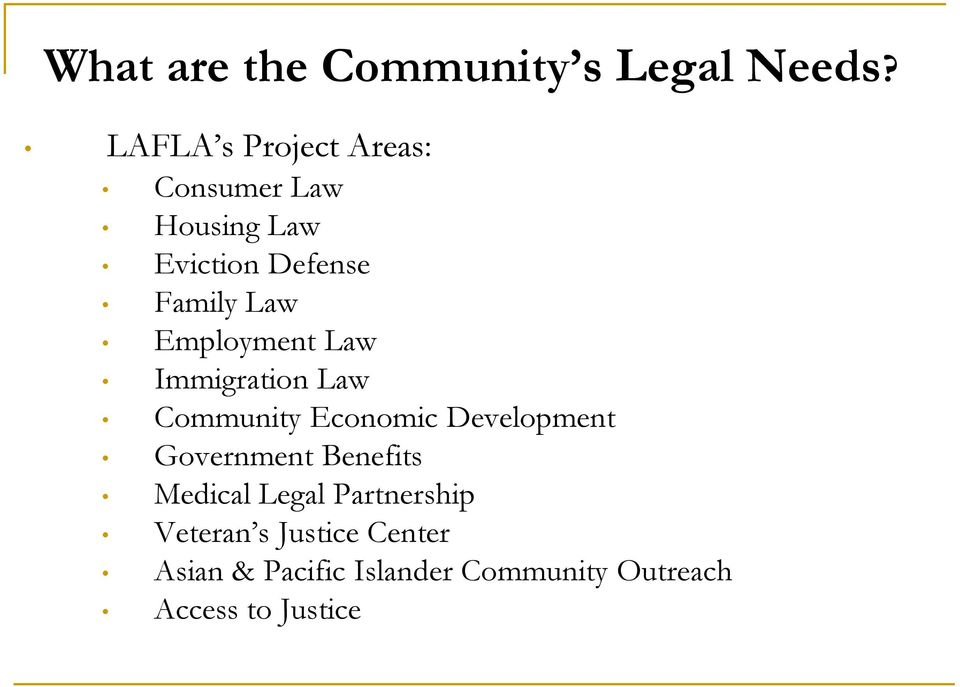 Employment Law Immigration Law Community Economic Development Government