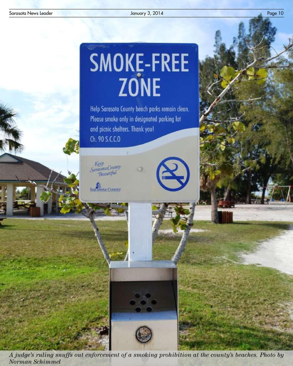 enforcement of a smoking prohibition at
