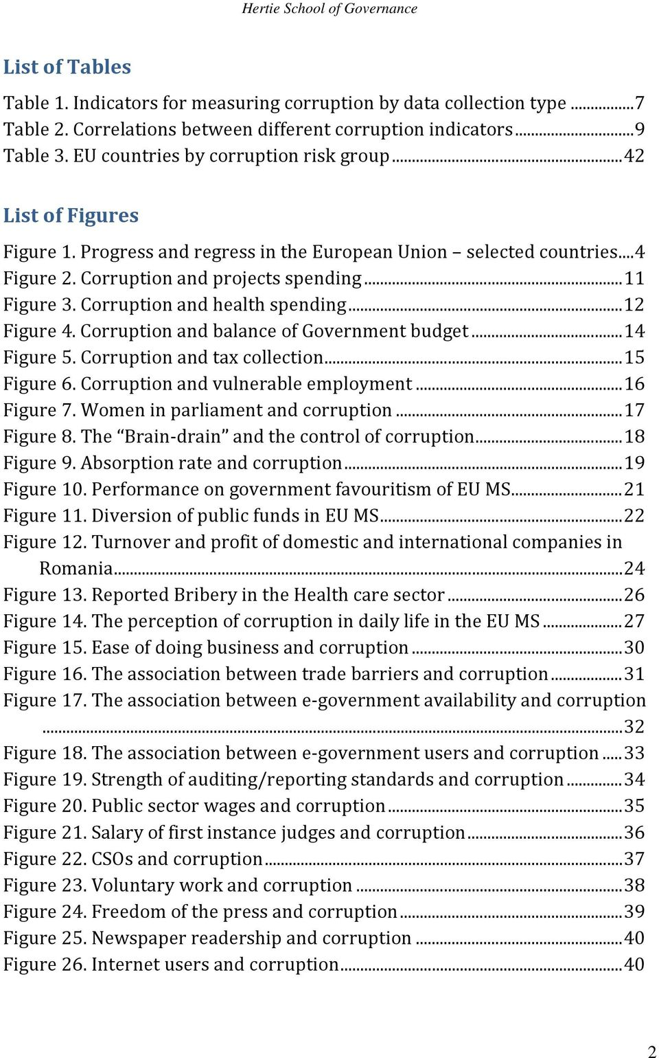 Corruption and health spending... 12 Figure 4. Corruption and balance of Government budget... 14 Figure 5. Corruption and tax collection... 15 Figure 6. Corruption and vulnerable employment.