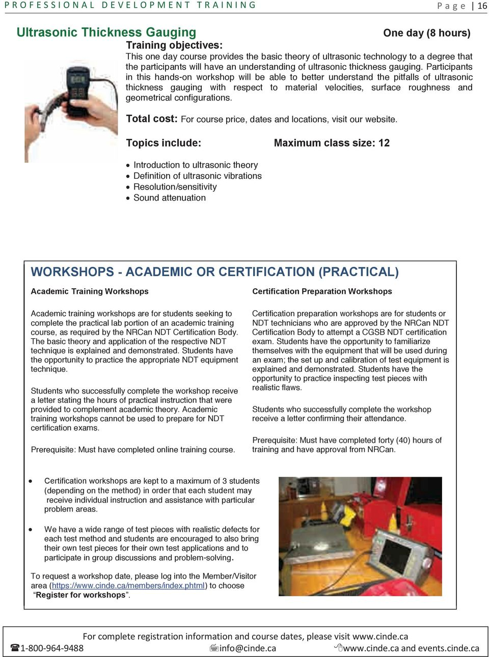 World Class Training In Ndt Course Catalogue Pdf