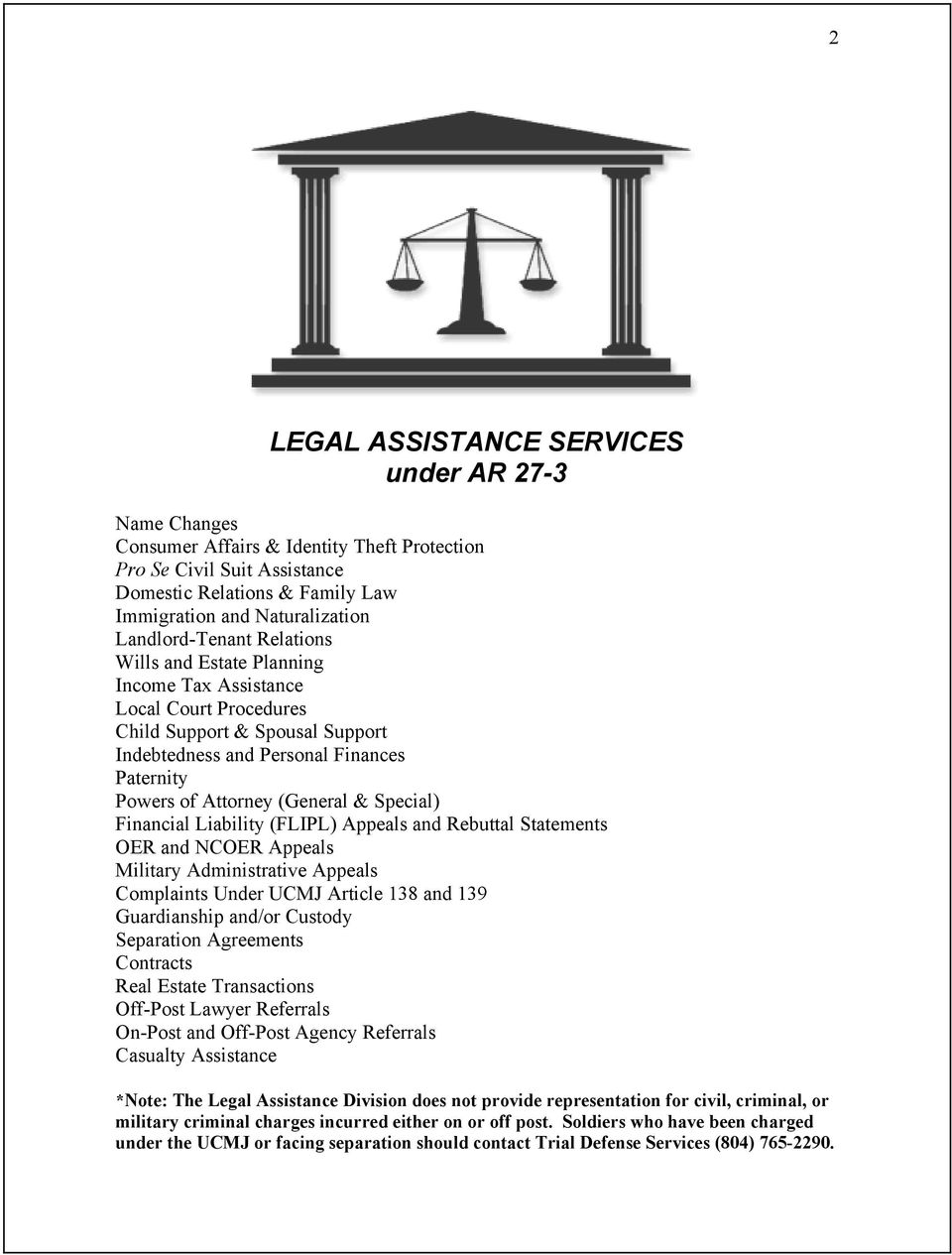 (General & Special) Financial Liability (FLIPL) Appeals and Rebuttal Statements OER and NCOER Appeals Military Administrative Appeals Complaints Under UCMJ Article 138 and 139 Guardianship and/or