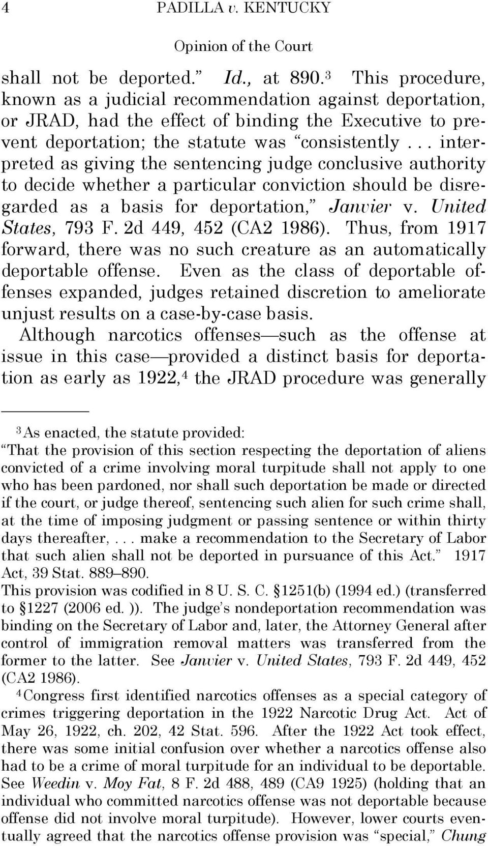 .. interpreted as giving the sentencing judge conclusive authority to decide whether a particular conviction should be disregarded as a basis for deportation, Janvier v. United States, 793 F.