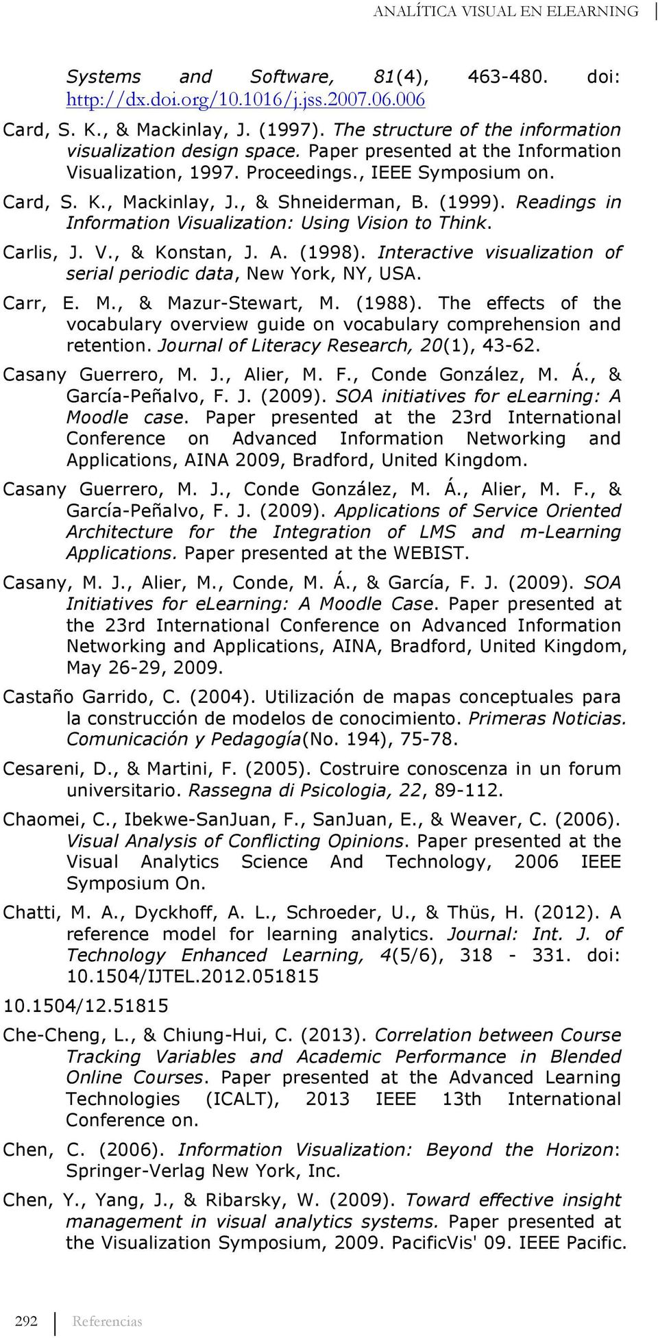 (1999). Readings in Information Visualization: Using Vision to Think. Carlis, J. V., & Konstan, J. A. (1998). Interactive visualization of serial periodic data, New York, NY, USA. Carr, E. M.