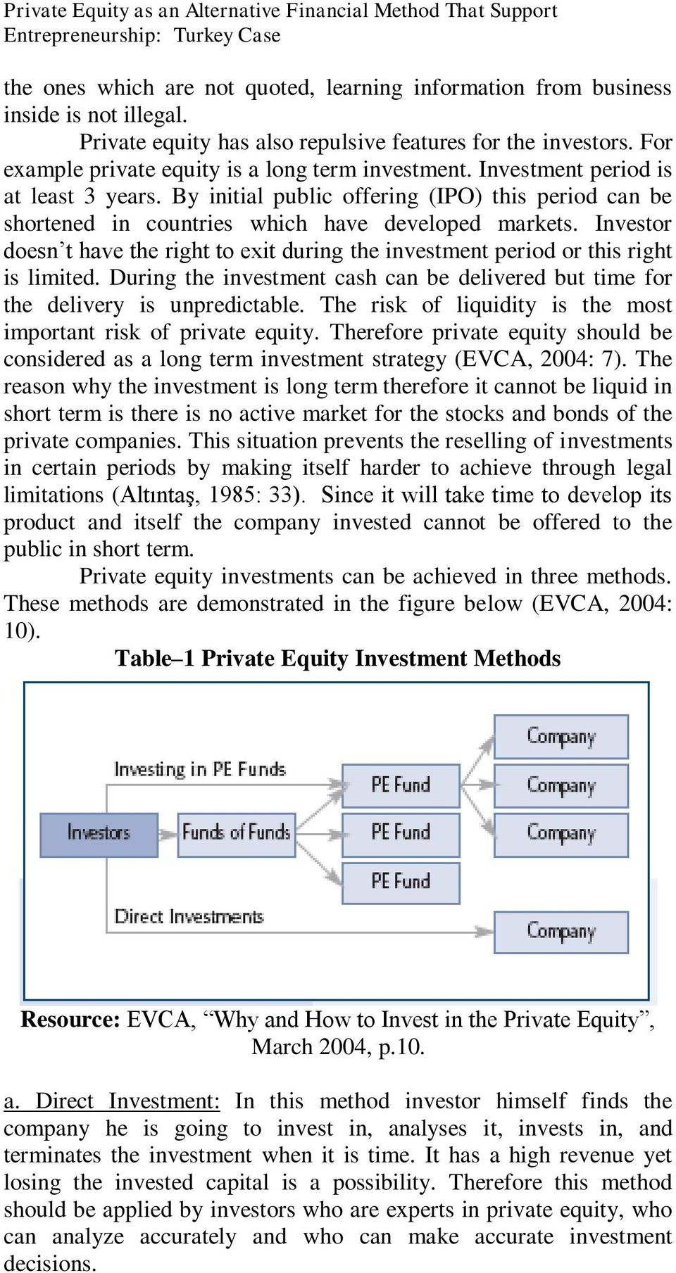 By initial public offering (IPO) this period can be shortened in countries which have developed markets. Investor doesn t have the right to exit during the investment period or this right is limited.
