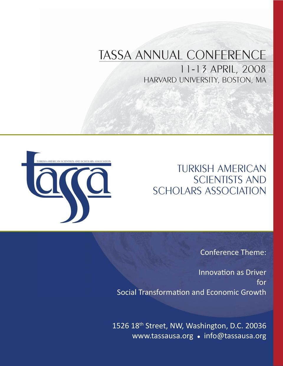 SCHOLARS ASSOCIATION Conference Theme: Innovation as Driver for Social Transformation