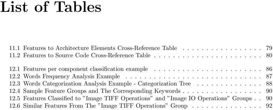 3 Words Categorization Analysis Example - Categorization Tree... 88 12.4 Sample Feature Groups and The Corresponding Keywords... 90 12.