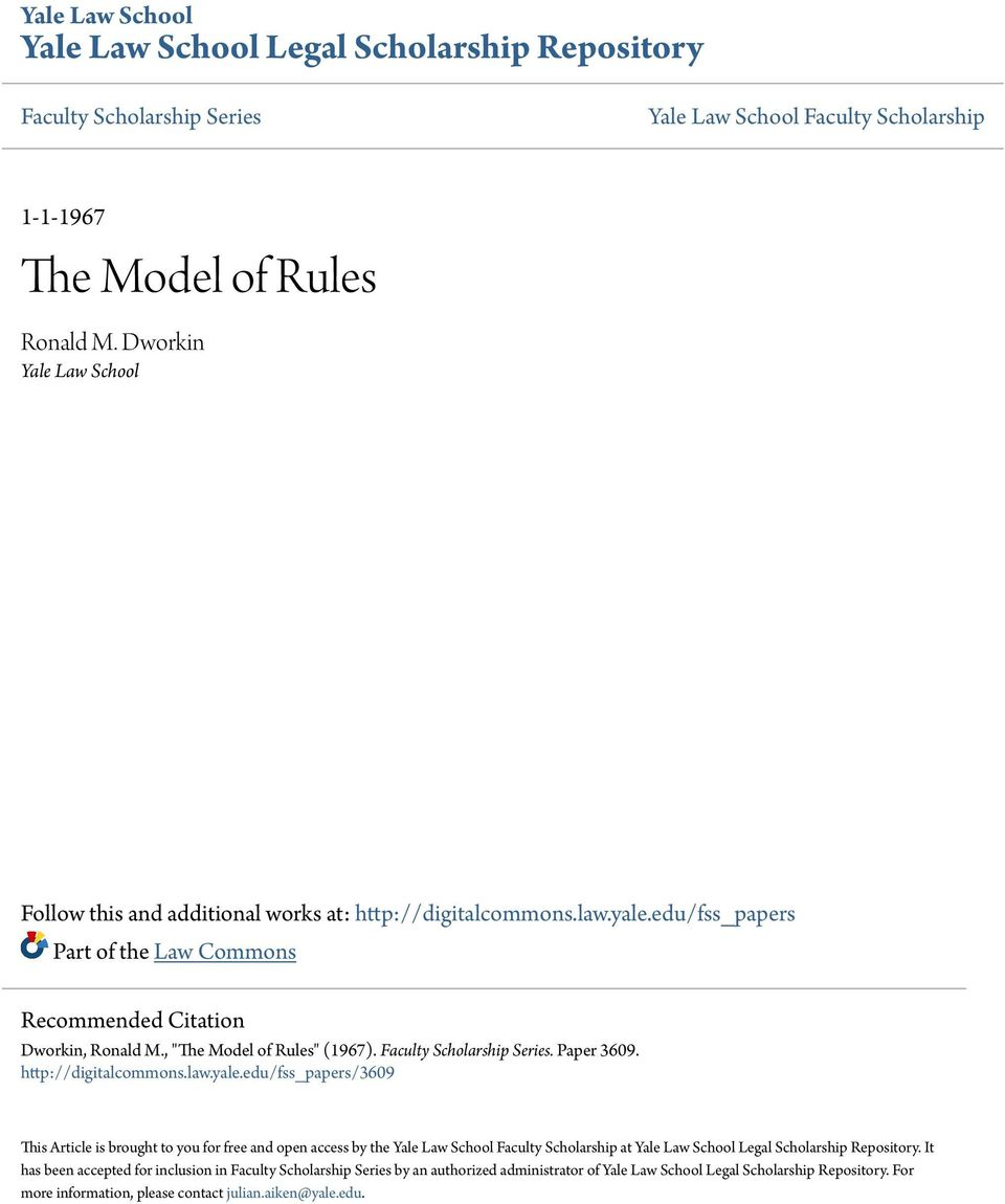 Faculty Scholarship Series. Paper 3609. http://digitalcommons.law.yale.