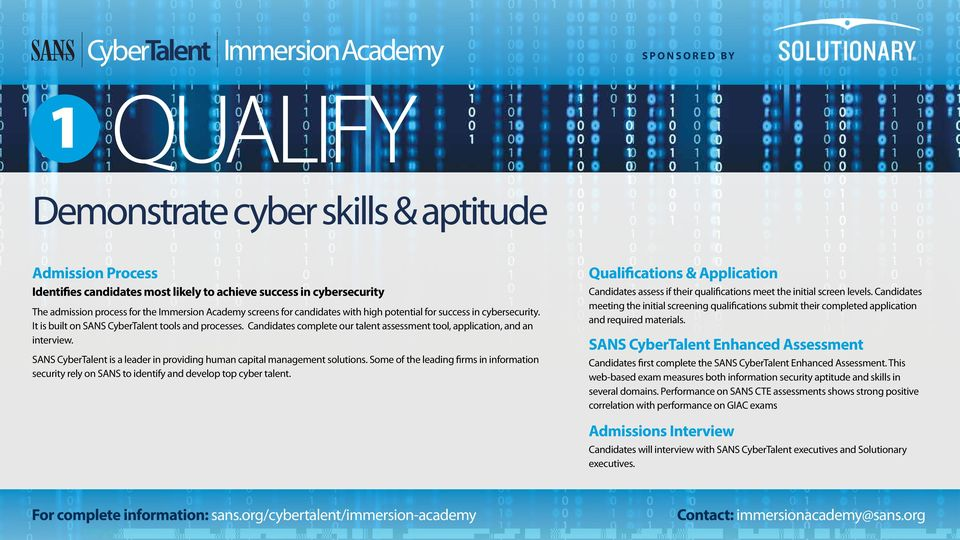 SANS CyberTalent is a leader in providing human capital management solutions. Some of the leading firms in information security rely on SANS to identify and develop top cyber talent.