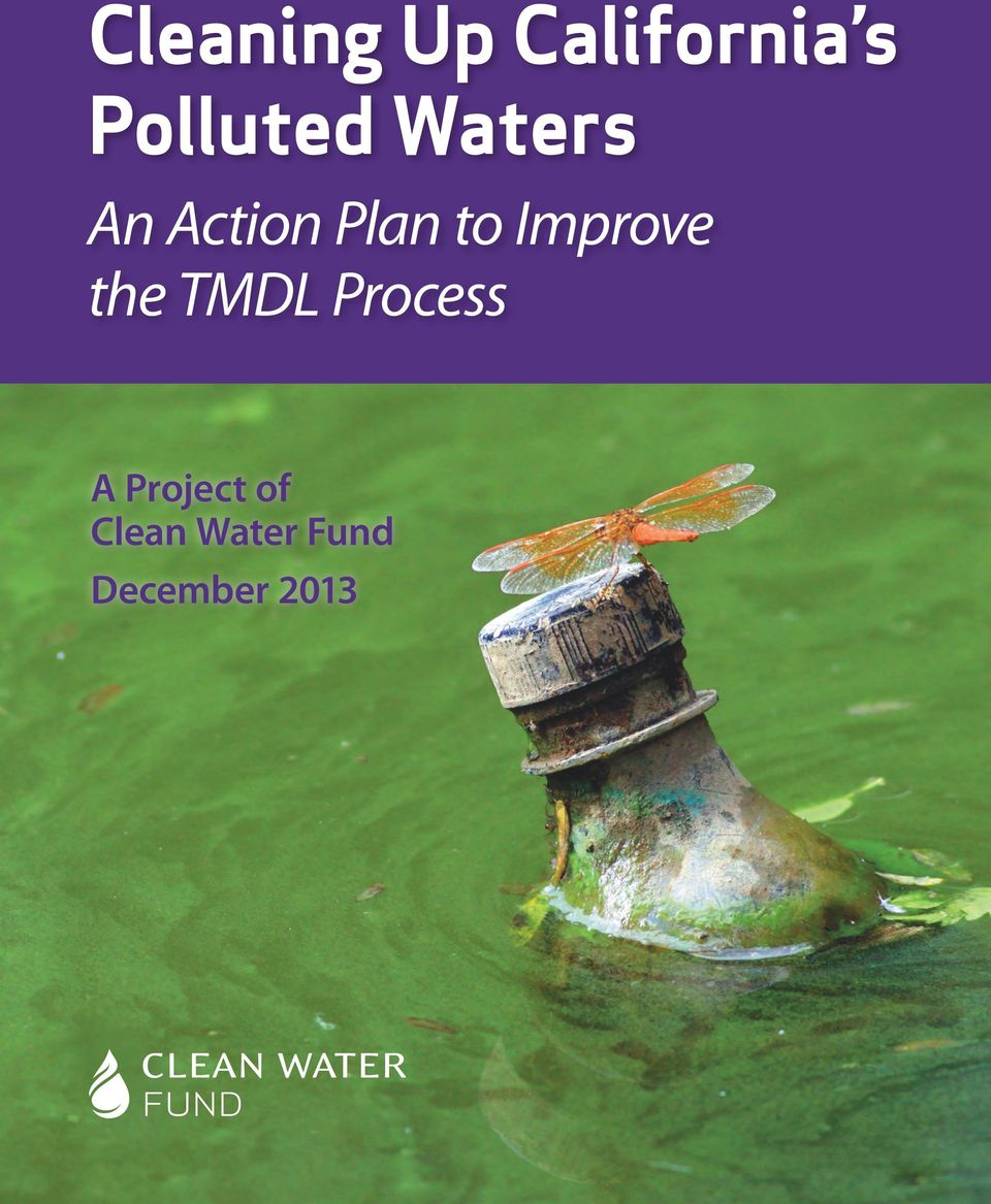 to Improve the TMDL Process A
