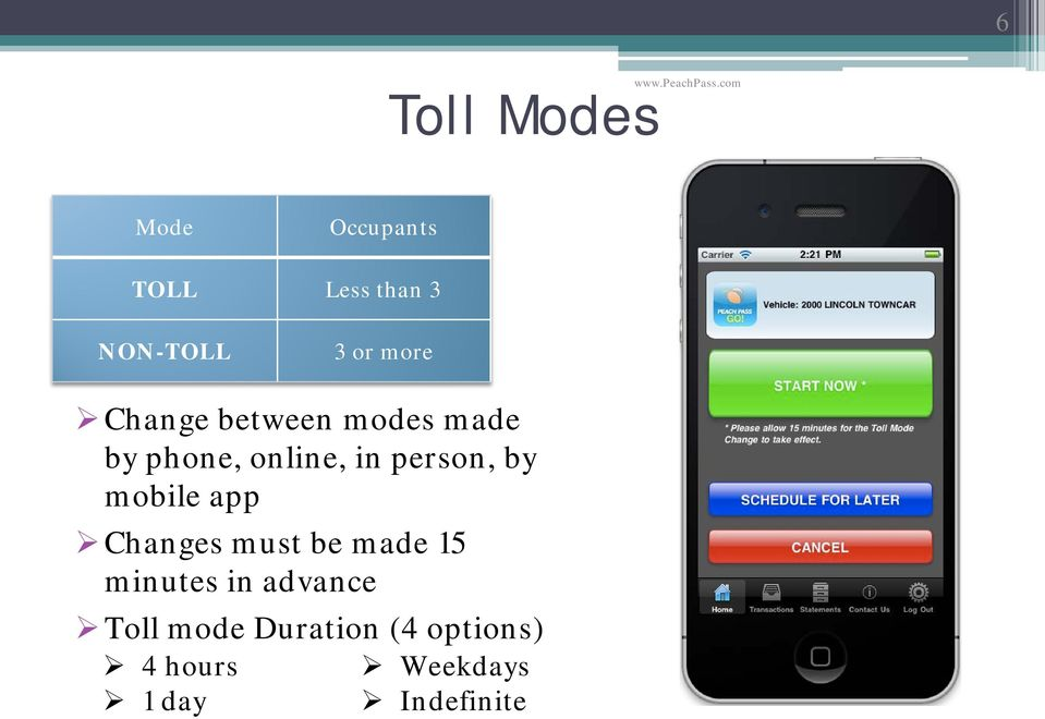 more Change between modes made by phone, online, in person, by