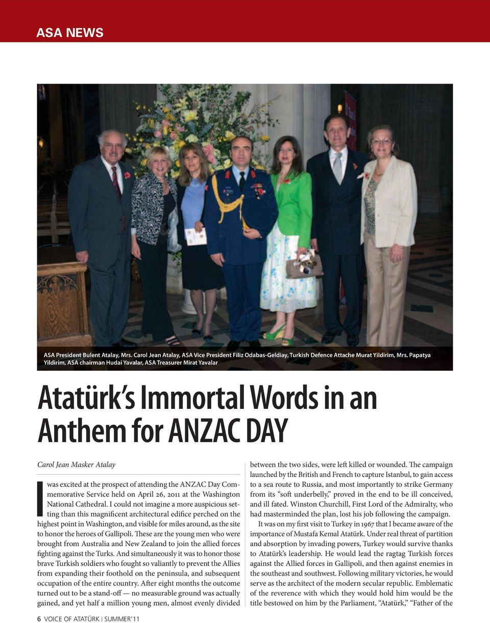 ANZAC Day Commemorative Service held on April 26, 2011 at the Washington National Cathedral.