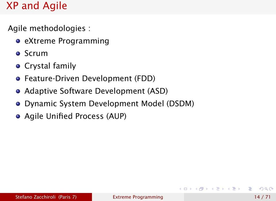 Development (ASD) Dynamic System Development Model (DSDM) Agile