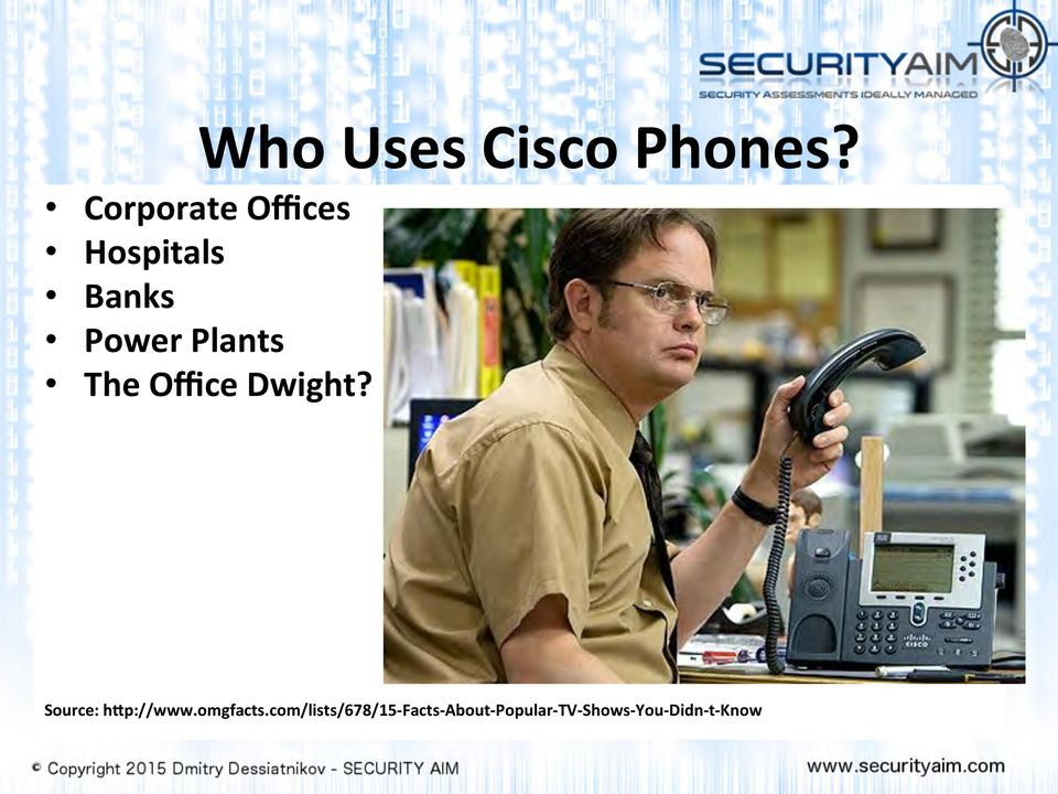 The Office Dwight? Source: h[p://www.omgfacts.