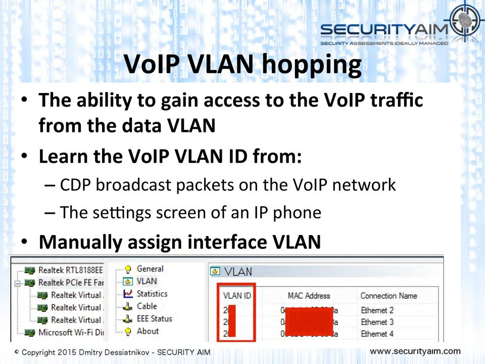 from: CDP broadcast packets on the VoIP network The