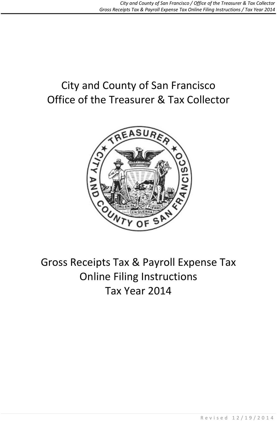 Tax & Payroll Expense Tax Online Filing