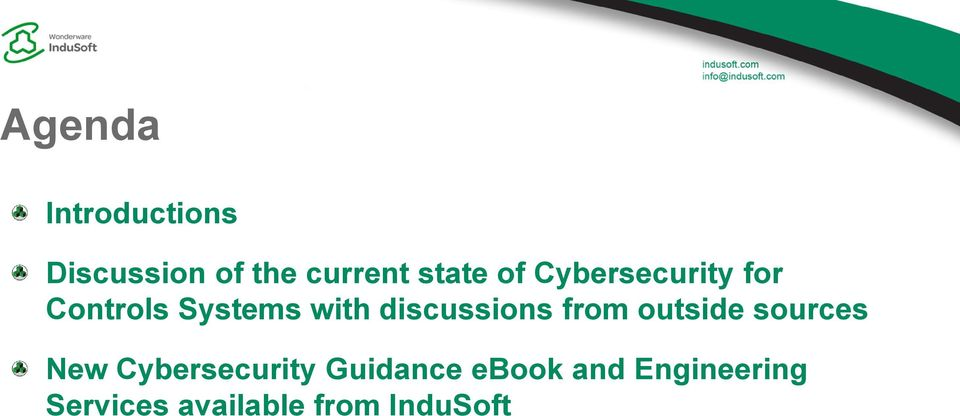 discussions from outside sources New Cybersecurity
