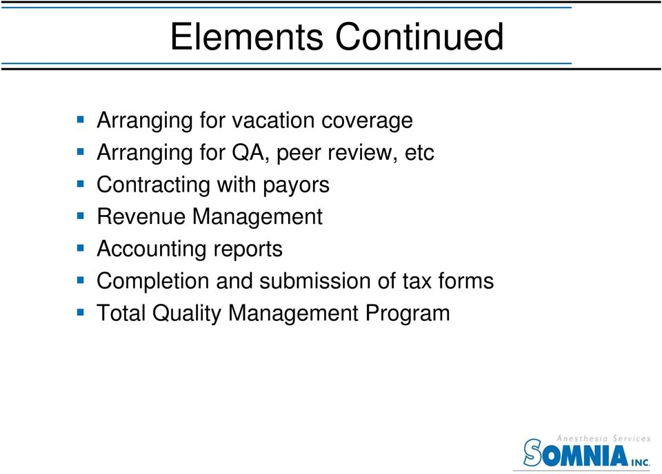 payors Revenue Management Accounting reports