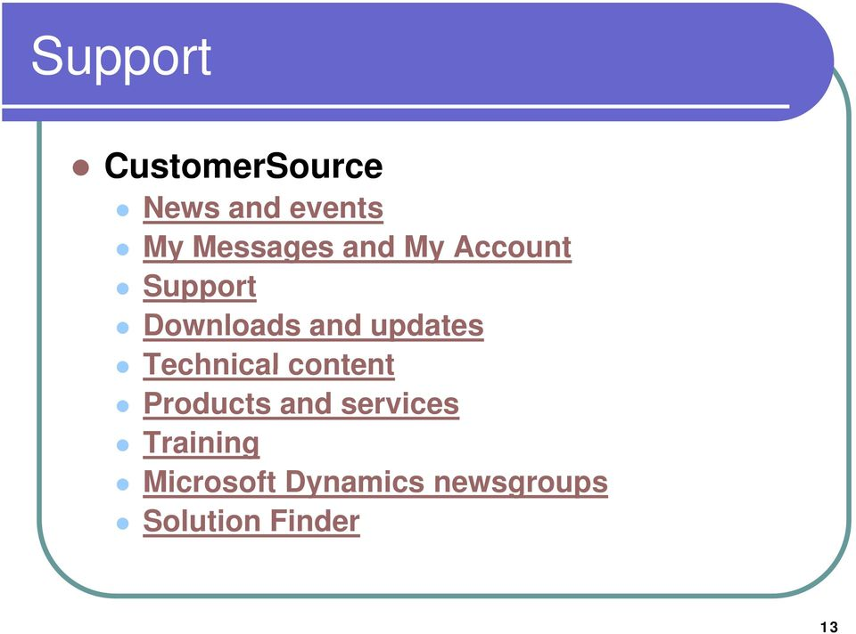 updates Technical content Products and services