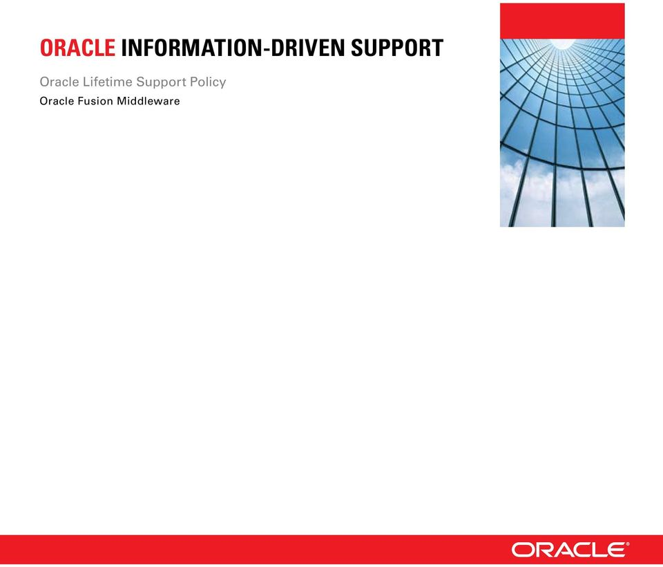 SUPPORT Oracle