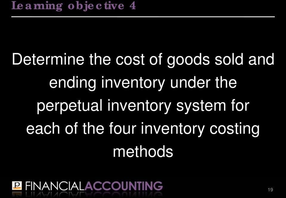the perpetual inventory system for