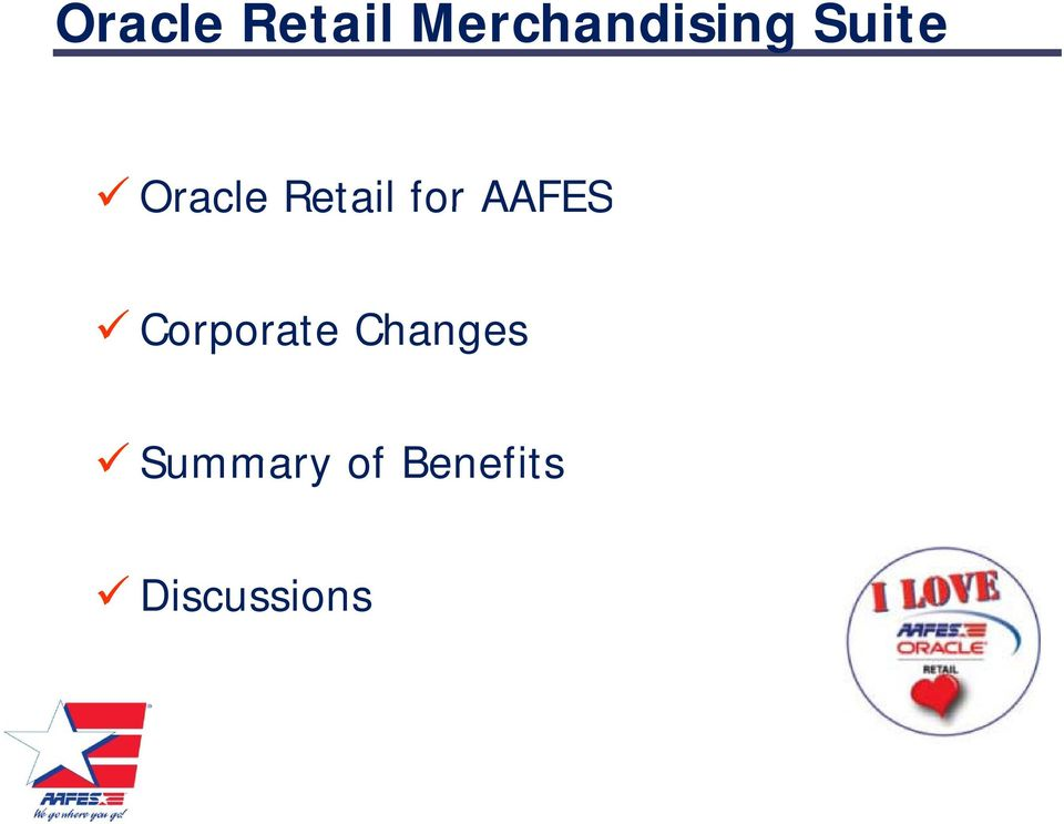 AAFES Corporate Changes