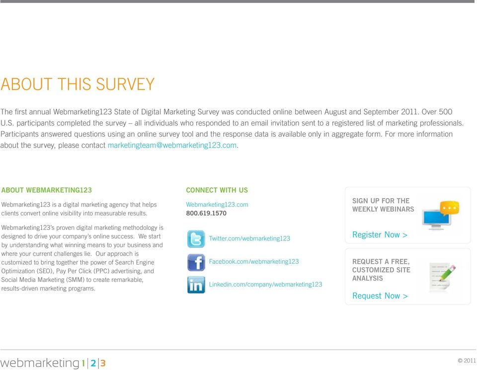 For more information about the survey, please contact marketingteam@webmarketing123.com.