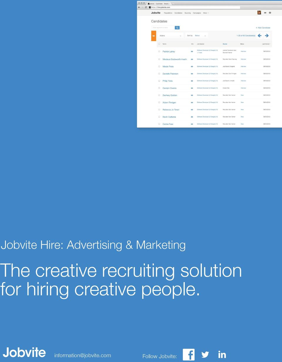 The creative recruiting