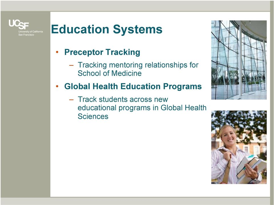 Global Health Education Programs Track students