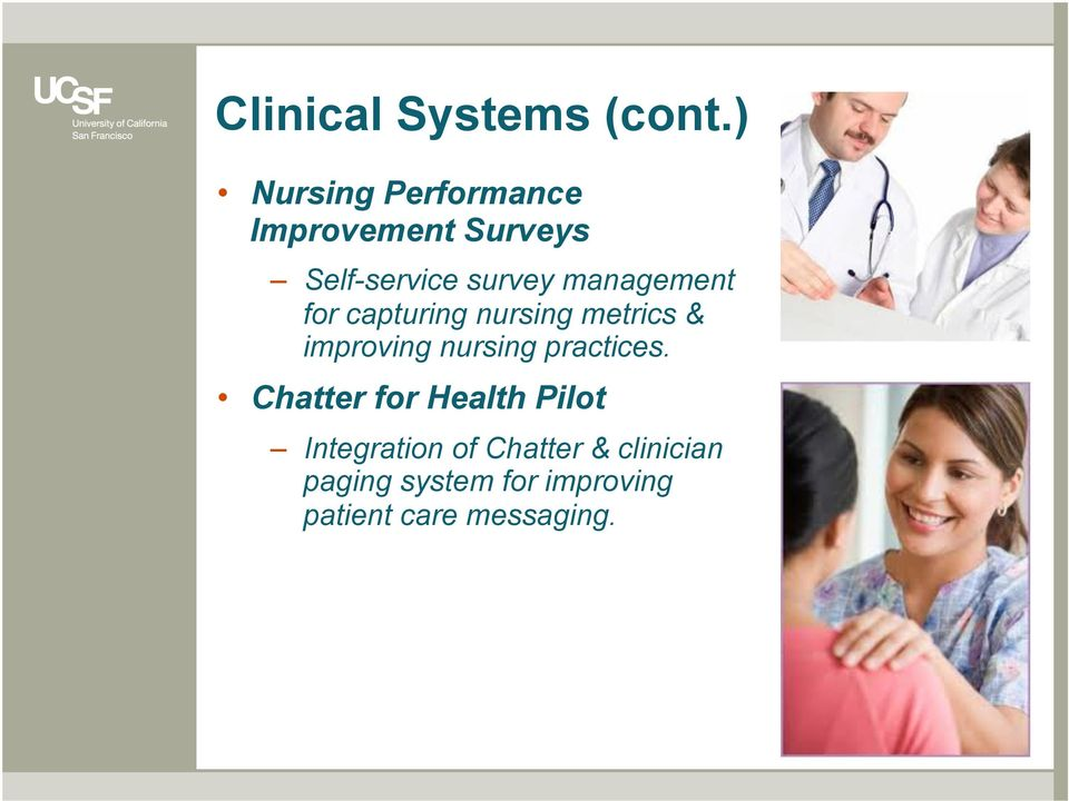 management for capturing nursing metrics & improving nursing