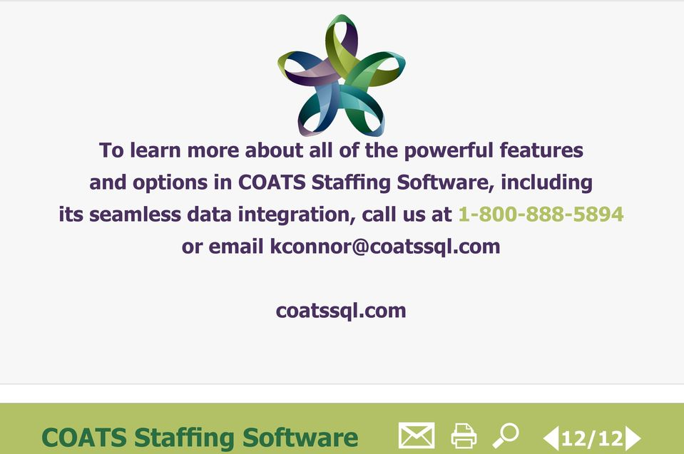 seamless data integration, call us at 1-800-888-5894 or