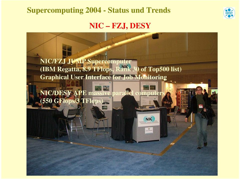 9 TFlops, Rank 30 of Top500 list) Graphical User