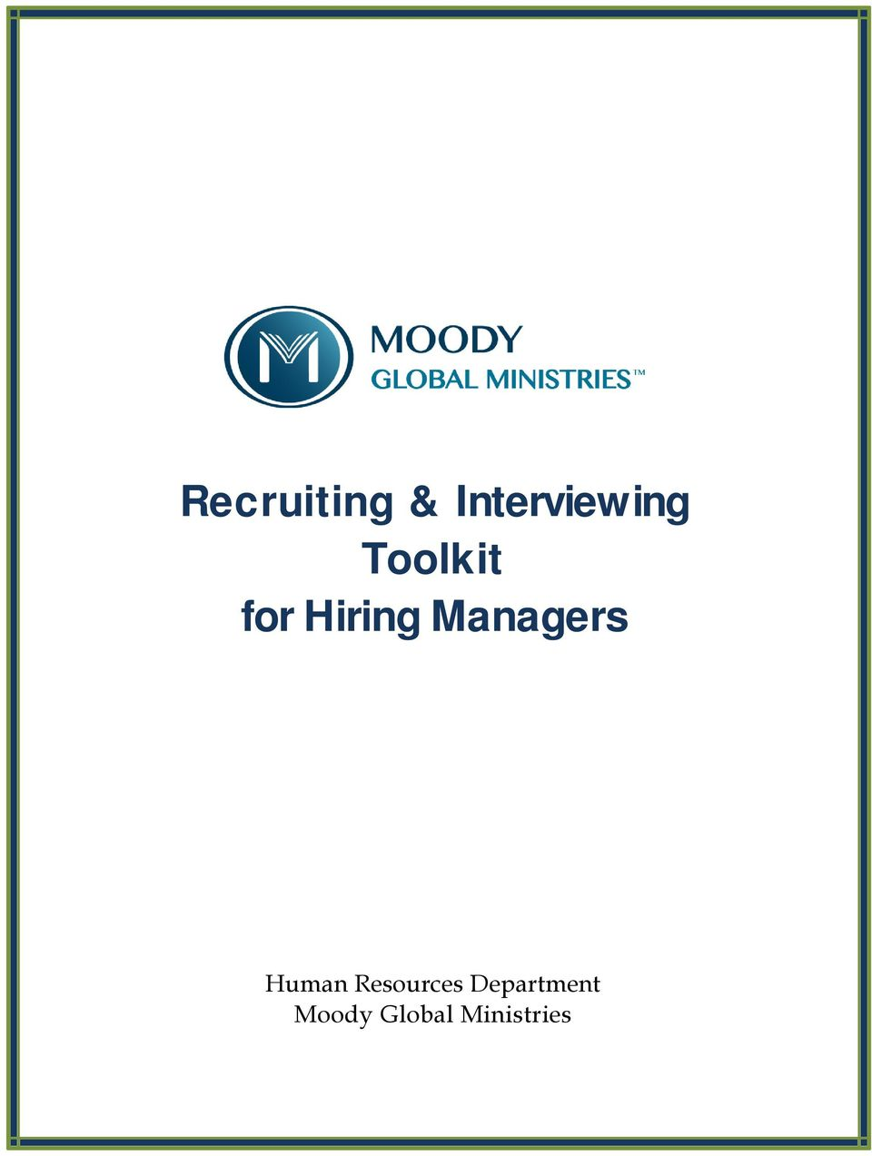 for Hiring Managers