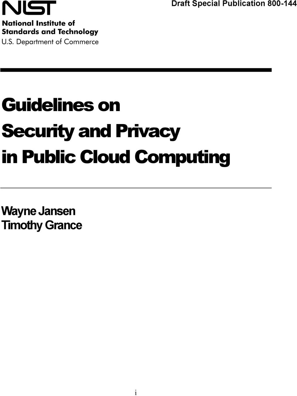 and Privacy in Public Cloud