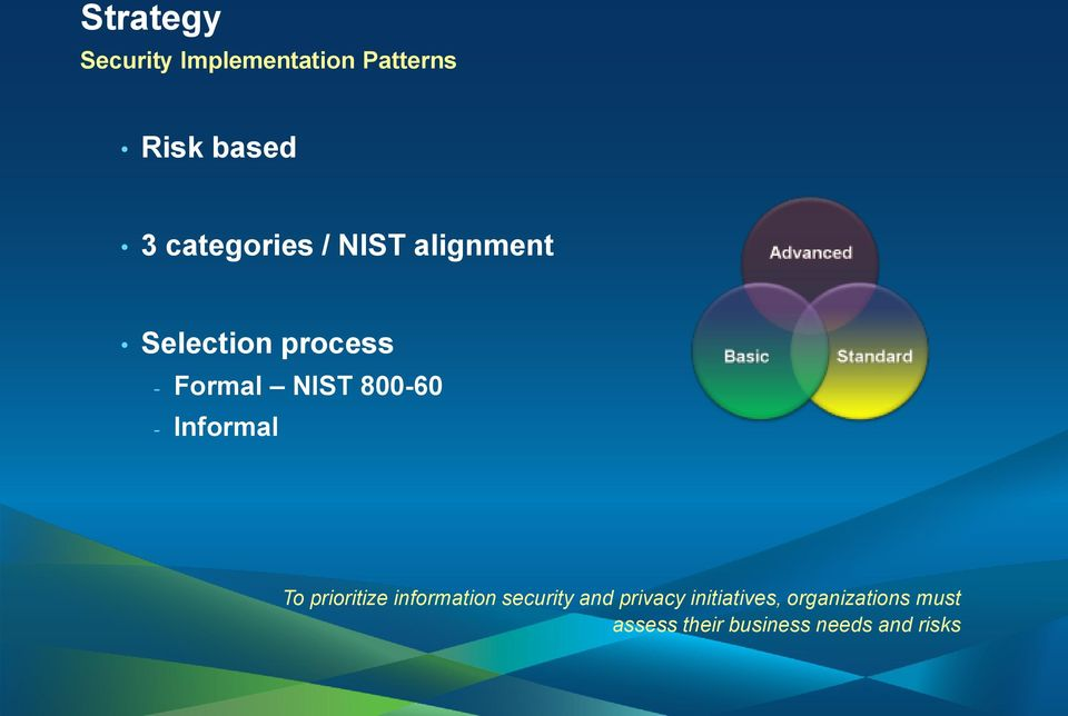 800-60 - Informal To prioritize information security and