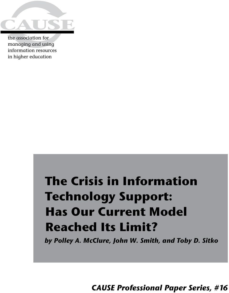 Has Our Current Model Reached Its Limit? by Polley A.