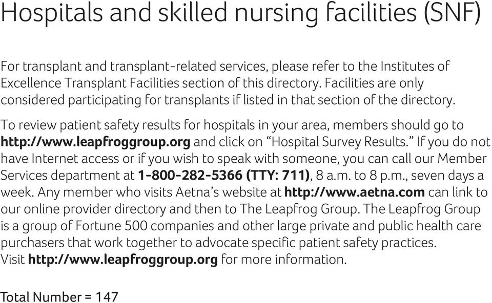 leapfroggroup.g and click on Hospital Survey Results.