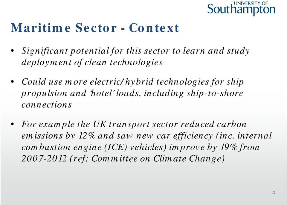 ship-to-shore connections For example the UK transport sector reduced carbon emissions by 12% and saw new car