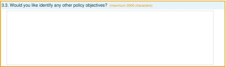 policy objectives?