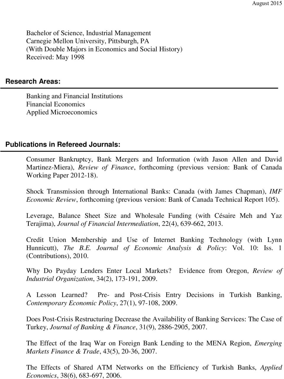 Finance, forthcoming (previous version: Bank of Canada Working Paper 2012-18).