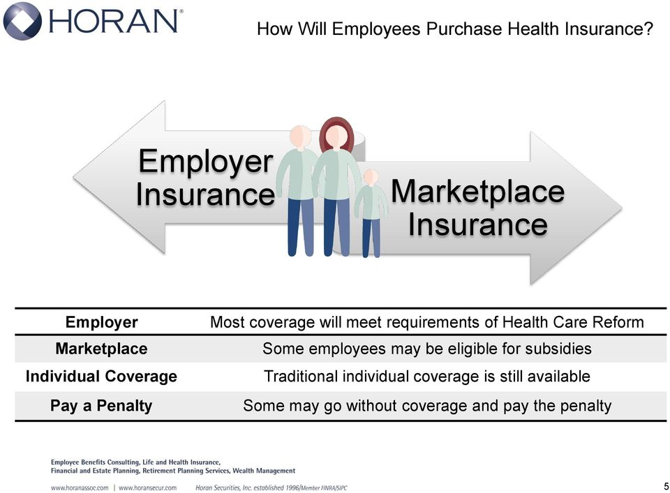 a Penalty Most coverage will meet requirements of Health Care Reform Some employees