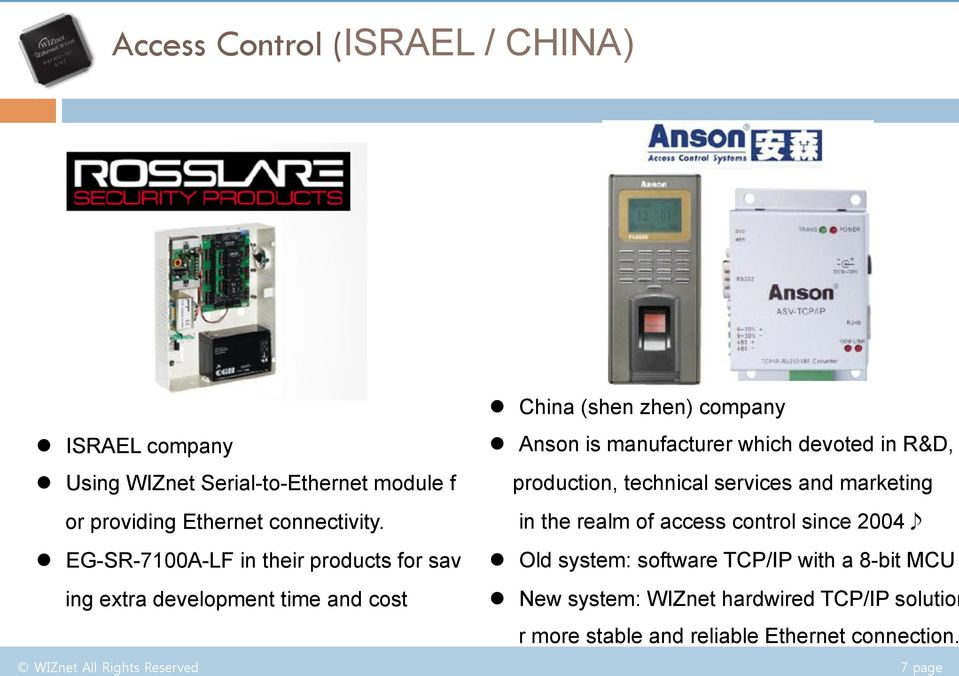 which devoted in R&D, production, technical services and marketing in the realm of access control since 2004 l Old system: software