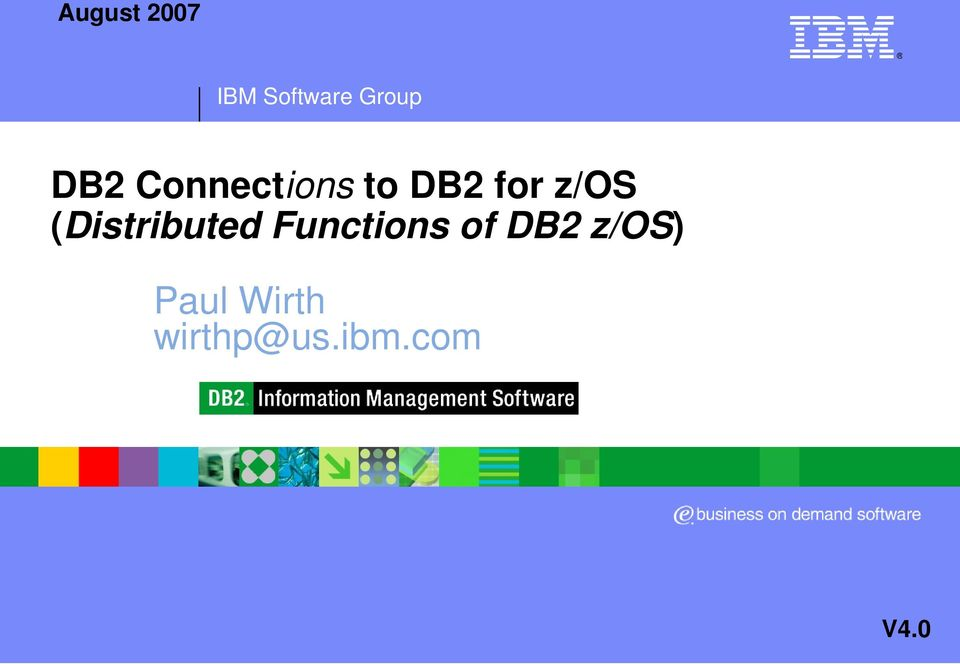 (Distributed Functions of DB2
