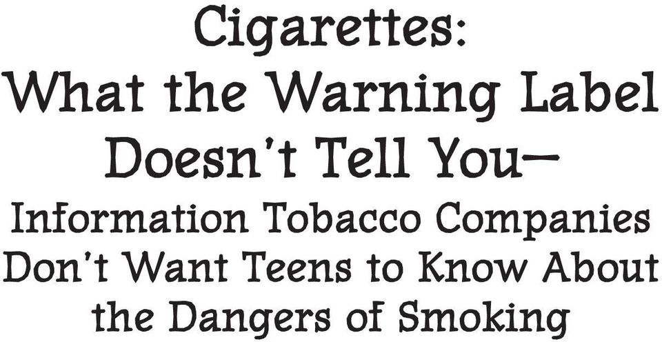 Information Tobacco Companies Don