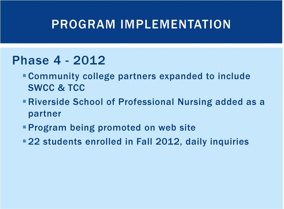 Professional Nursing added as a partner Program being